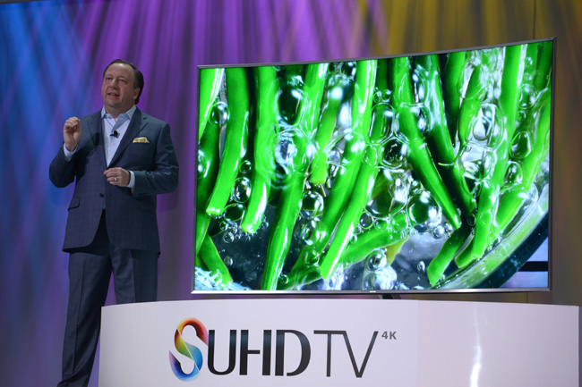 Ultra HD technology at Samsung press conference CES2015