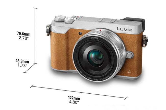 Panasonic Lumix DMC GX85 GX80 silver brown camera