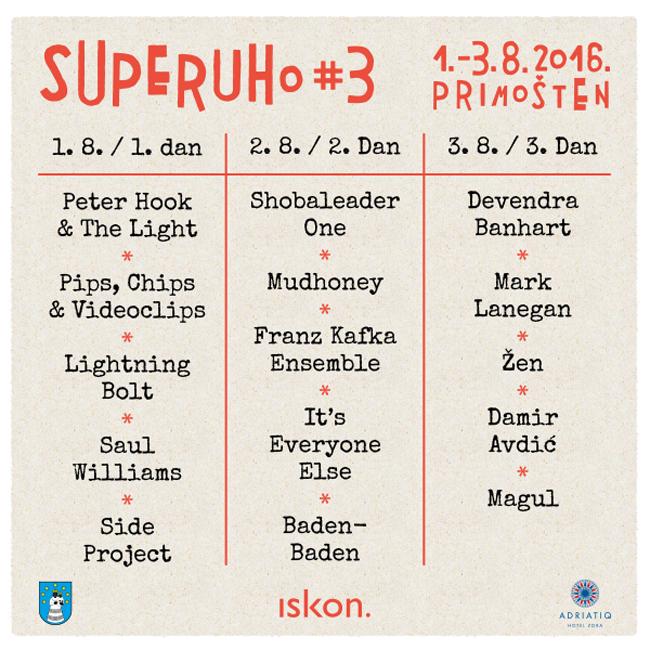 SuperUho No.3 raspored