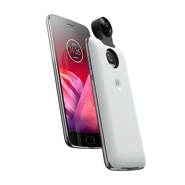 360 Camera Moto Mod Moto Z2 Play OffsetCombo White