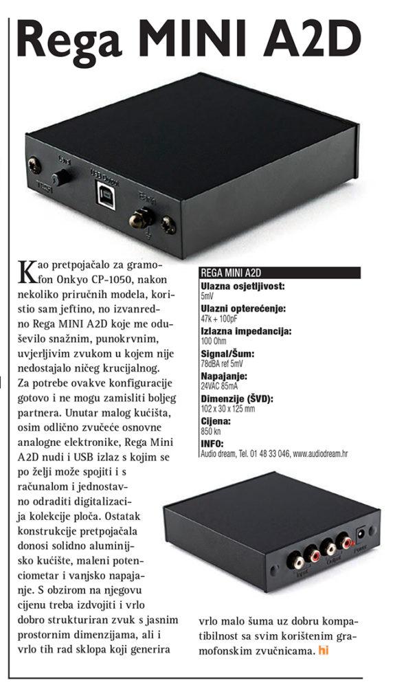 Onkyo CP 1050 Rega Mini A2D test