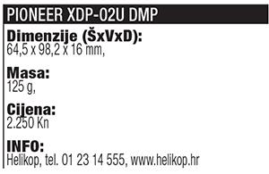 Pioneer XDP 02U tablica
